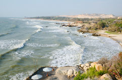 Havskust i vår i Vietnam Royaltyfri Bild