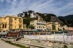 Havskust, Monterosso alsto, Cinque Terre, Italien Arkivfoto