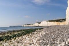 Havskust och klippor på Birling av Gap Royaltyfri Bild