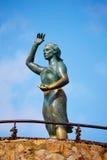 Havskvinna i Lloret de Mar Mujer Marinera Arkivfoto