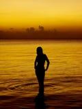 havskvinnabarn royaltyfri fotografi