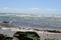 havslandskap av Formia Arkivbild