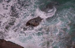 Havslandskap i norden av Spanien royaltyfria foton