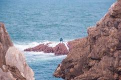 Havslandskap i norden av Spanien arkivbilder