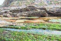 Havslandskap i norden av Spanien arkivbild