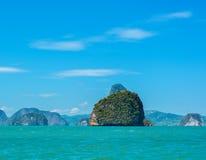 Havslandskap i Thailand Arkivbild