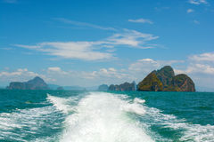 Havslandskap i Thailand Royaltyfri Fotografi