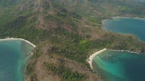 Havslandskap med stranden Filippinerna Luzon lager videofilmer