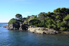 Havslandskap nära Bandol, Frankrike Royaltyfri Fotografi