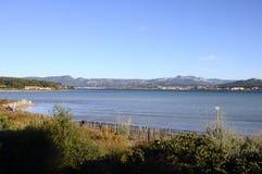 Havslandskap nära Bandol, Frankrike Royaltyfria Bilder
