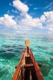 Havslandskap på fartyget Royaltyfri Bild