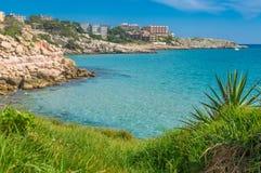 Havslandskap Salou royaltyfri foto