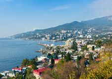 Havslandskap. Yalta Krim, Ukraina Royaltyfria Bilder