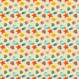 Havsliv - sömlös textur för bakgrund Royaltyfria Foton