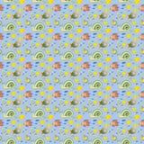 Havsliv - sömlös textur för bakgrund arkivfoto