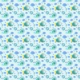 Havsliv - sömlös textur för bakgrund eller scrapbooking Arkivbild