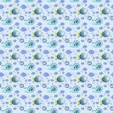 Havsliv - sömlös textur för bakgrund eller scrapbooking arkivfoto