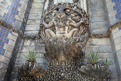 Havsmonster i den Pena slotten, Sintra Arkivbilder
