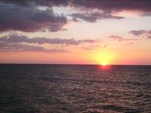 Havsolnedgång 009 Arkivbild