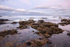 havsolnedgång Fotografering för Bildbyråer