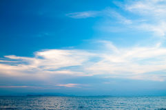 Havsolnedgång. Royaltyfria Bilder