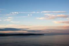 havsolnedgång Royaltyfri Fotografi