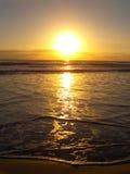 havsoluppgång Arkivfoton