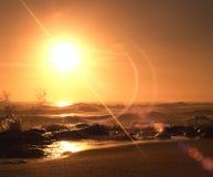 havsoluppgång Royaltyfria Bilder