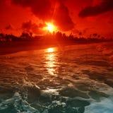 havsoluppgång Arkivbild