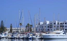 Havspir i Tunisien Port El Kantaoui Arkivfoton