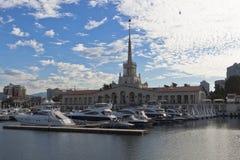 Havsport av Sochi per försommarmorgon Arkivbilder