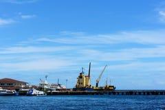 Havsport ovanför havskustsikt Fotografering för Bildbyråer