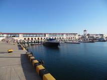 Havsport Sochi, invallning, fartyg och yachter Royaltyfria Bilder