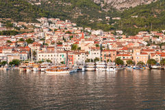 Havspromenad av Makarska Fotografering för Bildbyråer