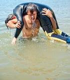 Havsräddningsaktion royaltyfria foton