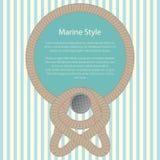 Havsram med ett rep och en text royaltyfri illustrationer