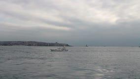 Havsresande, Istanbul stad, December 2016, Turkiet arkivfilmer