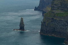 Havsrev i klippor av Moher, Irland Royaltyfria Foton