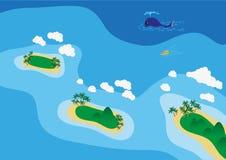 Havsscape Arkivbild
