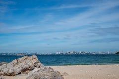 HavsscapePattaya strand, Thailand Royaltyfri Foto
