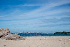 HavsscapePattaya strand, Thailand Arkivbild