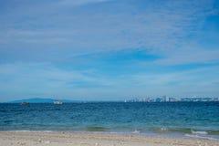 HavsscapePattaya strand, Thailand Fotografering för Bildbyråer