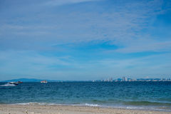 HavsscapePattaya strand, Thailand Royaltyfria Bilder