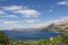 Havssida av Kroatien Arkivbild