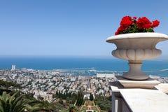 Havssikt av Haifa fotografering för bildbyråer