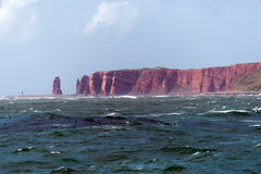 Havssikt av heligolandön Royaltyfria Bilder