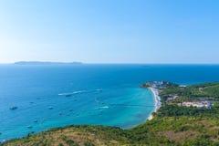 Havssikt av kohlarn, pattaya, Thailand Arkivfoton