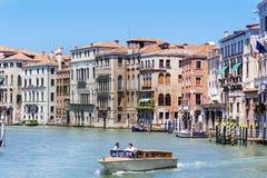 Havssikt av Venedig, Italien Arkivbilder