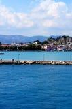 Havssikt av Zante Arkivfoton
