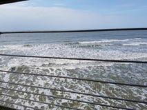 Havssikt från den Belgien pir, Blankenberge, Belgien Royaltyfria Foton